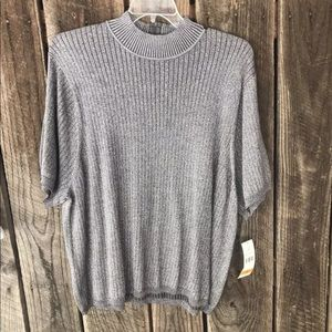 Womens 3xl blouse koret NWT Silver Shimmery